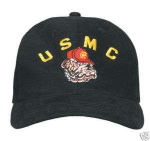 USMC BULLDOG HAT, DELUXE LOW PROFILE CAP