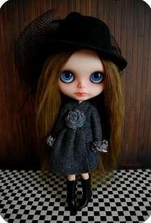 OOAK Custom Neo Blythe Art doll reroot Avacado alpaca mohair  EM