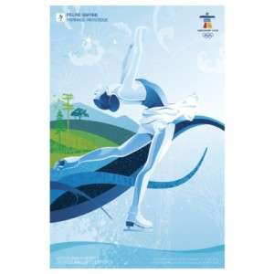 2010 Vancouver Olympic Winter Games Poster Figure Skate