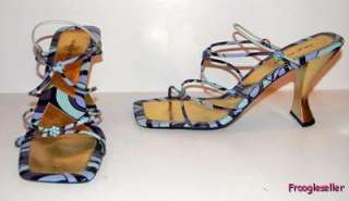 Nine West womens Kalanda3 strappy high heels shoes 10 M multi color