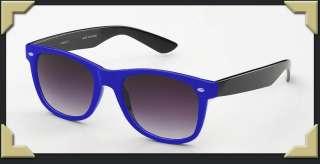 Blue / Black Retro Two Tone Colorful Sunglasses 80s Funny Props Cool