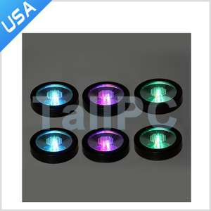 Lot of 6 New Color Changing LED Light Drink Bottle Cup Coaster USA