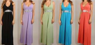 EMPIRE Jersey MAXI DRESS Beach Wedding Party BOHO Bridesmaid Gown PLUS