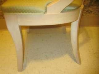 Ethan Allen Medallion Linen White 2 Splatback Chairs