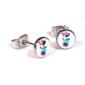 The Stainless Steel Jewellery Shop   7mm Minnie Mouse   Ohrstecker