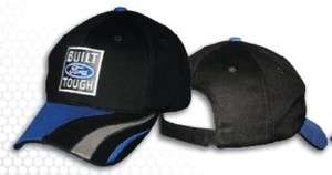 Built Ford Tough Hat Cap Black w/Blue Swoop Accent NWT