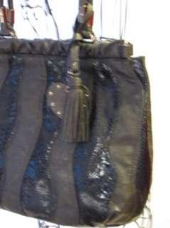 BEBE bag purse handbag SATCHEL pocketbook HOBO BLACK 181358 WAVE