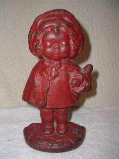 Hubley Little Red Riding Hood Doorstop Door Stop Antique Cast Iron