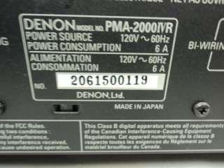 PMA 2000 IVR 2 CHANNEL STEREO INTEGRATED AMPLIFIER PMA 2000IVR