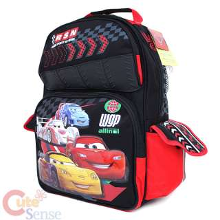 Disney Cars Mcqueen Large School Backpack Lunch Bag Set