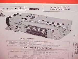 1960 CADILLAC ELDORADO BIARRITZ RADIO SERVICE MANUAL 60