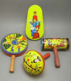 Vintage T. Conn Tin Litho Circus Clown Toy Noisemaker