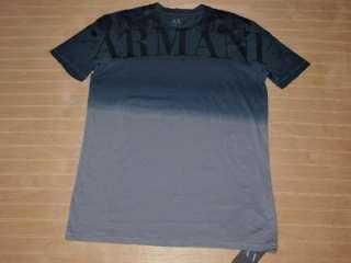 Armani Exchange Ombre Large Logo T Shirt Steeple Grey NWT