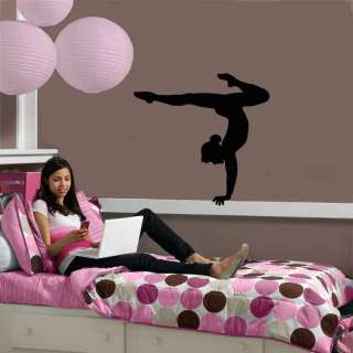 Gymnastics Girl Balancing Wall Vinyl Art Sticker/Decal