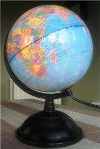 CHILDRENS EDUCATIONAL WORLD ATLAS GLOBE DESK LAMP