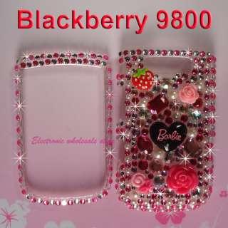 Barbie New Full Bling Crystal Diamond Skin Blackberry TORCH 9800 9810