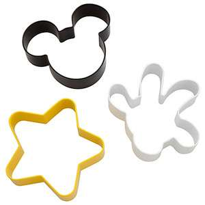 Disney World Mickey Mouse Metal Cookie Cutter 3 Pc Set