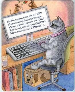 Mousemat   writing author novelist cat art Susan Alison