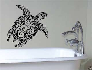 SEA TURTLE BATHROOM VINYL WALL ART STICKER BATH BEDROOM