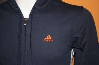 Adidas Felpa Con Cappuccio Blu / Arancio TG. 4 (46)