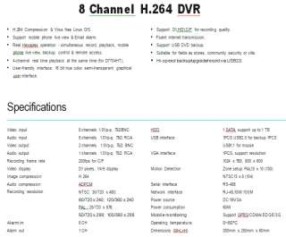 CHANNEL CnM CLASSIC H.264 DVR CCTV SYSTEM SECURITY USE HOME BUSINESS