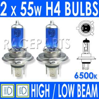 55w ICE BLUE KIA Picanto Xenon High/Low/Fog Bulbs H4 H1