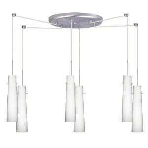 Besa Lighting 6QC 567407 SN Satin Nickel Camino Contemporary / Modern