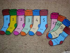 Teaching Resources  Number Line Display 0 to 100  Socks