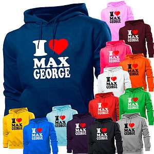 LOVE HEART MAX GEORGE THE WANTED HOODIE HOODY WOMEN BOYS GIRLS KIDS