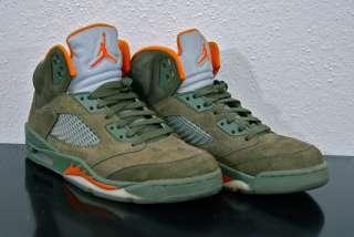 Nike Air Jordan Retro V 5 Olive sz8.5 VNDS bc cdp RARE