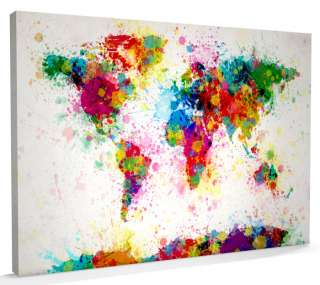 Map of the World Map, Box CANVAS, sizes A3 to A1   v168