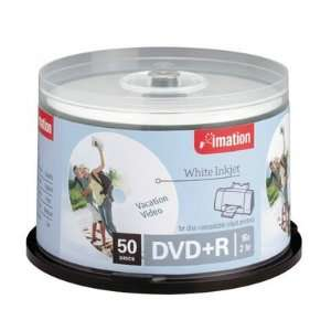 Imation Dvd+R 4.7 Gb 16x Inkjet & Hub Printable White 50