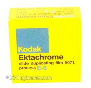 KODAK EKTACHROME 35MM SLIDE DUPLICATING FILM E 6 100 FEET