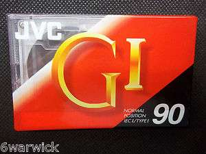 JVC GI   90. Blank cassette tape. Model Number G1 90. New, sealed in