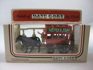 LLEDO DAYS GONE 1983 DIE CAST HORSE CART LIPTONS TEAS