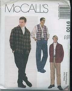 M 9100 patron couture chemise gilet pantalon homme