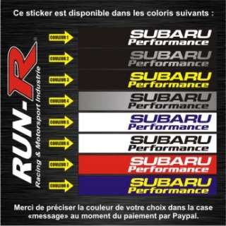 Sticker Subaru   Impreza WRX Forester Legacy   SU32