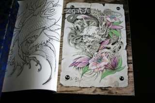 China Style Tattoo Flash Books Magazine Sketch Manuskript Sheets FROM