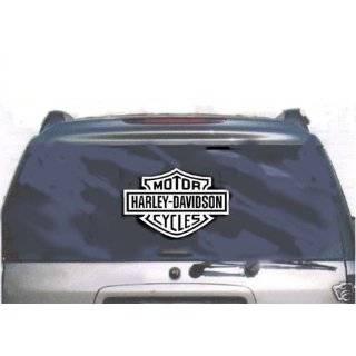 HARLEY DAVIDSON Large White VINYL Sticker / Decal (Motorcycles,Bikes)