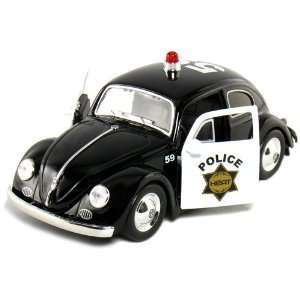 Jada Toys Heat Series 1959 VW Beetle Police 1/24 Scale Toys & Games