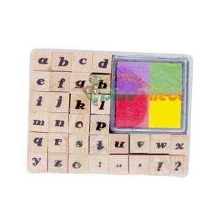 Wholesale DIY Handmade Cute Little English Letters Pattern Rubber