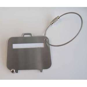 Stainless Steel Case Shape Luggage Tag: Home & Kitchen