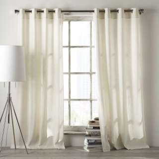 Linen Cotton Grommet Window Panel  west elm