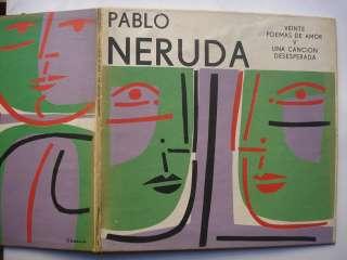 Pablo Neruda. SEOANE   Disco LP Veinte poemas de amor