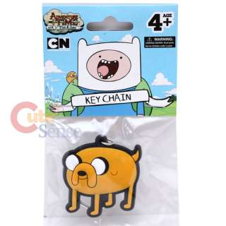 Adventure Time Finn & Jake Rubber Key Chain : Jake