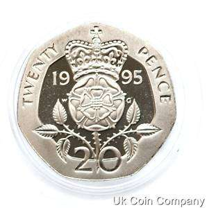 1995 ROYAL MINT UK DECIMAL PROOF 20p TWENTY PENCE COIN