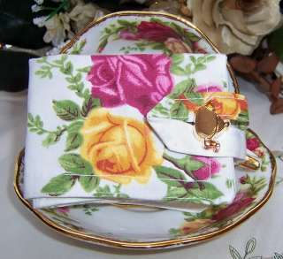 ROYAL ALBERT OLD COUNTRY ROSES Tea WALLET HOLDER Cozy