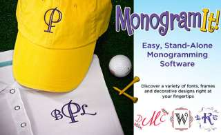 Amazing Designs MONOGRAM IT! Embroidery Software