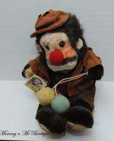 Vintage Emmett Kelly Jr Animal Clown Plush Toy HTF Rare