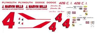 John  J. Marvin Mills 1967 Plymouth 1/32nd Scale Slot Car